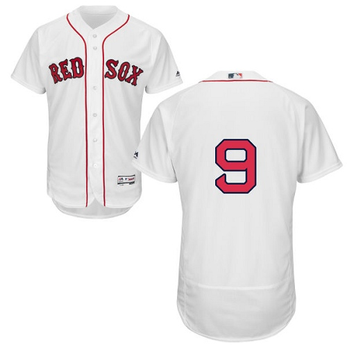 Men's Majestic Boston Red Sox #9 Ted Williams White Home Flex Base Authentic Collection MLB Jersey