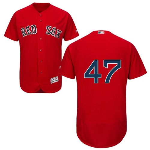 Men's Majestic Boston Red Sox #47 Tyler Thornburg Red Flexbase Authentic Collection MLB Jersey