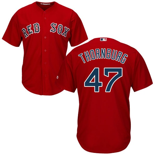 Youth Majestic Boston Red Sox #47 Tyler Thornburg Authentic Red Alternate Home Cool Base MLB Jersey