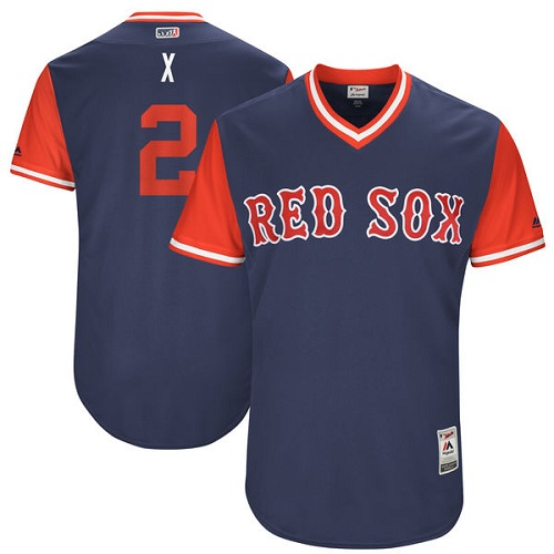 Men's Majestic Boston Red Sox #2 Xander Bogaerts