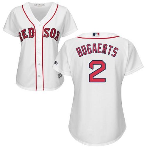 Women's Xander Bogaerts Boston Red Sox #2 White MLB Jersey