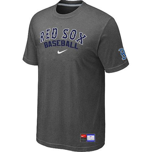 MLB Men's Boston Red Sox Nike Practice T-Shirt - Dark Grey