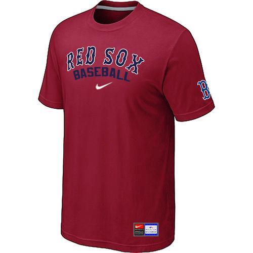MLB Men's Boston Red Sox Nike Practice T-Shirt - Red