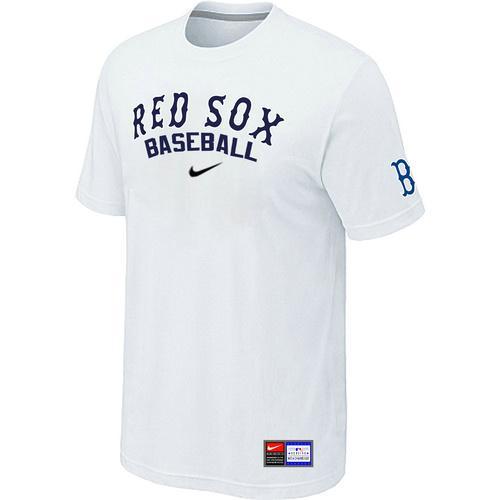 MLB Men's Boston Red Sox Nike Practice T-Shirt - White