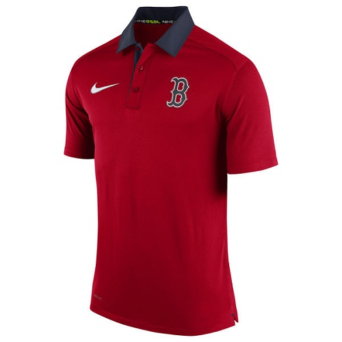 MLB Men's Boston Red Sox Nike Red Authentic Collection Dri-FIT Elite Polo