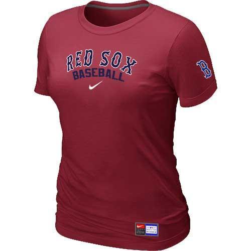 MLB Women's Boston Red Sox Nike Practice T-Shirt - Red